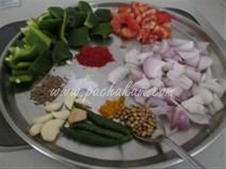 Step 3 Capsicum Nuts Masala  Recipe