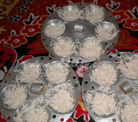 Step 5 Idiyappam(Nool Puttu) Recipe