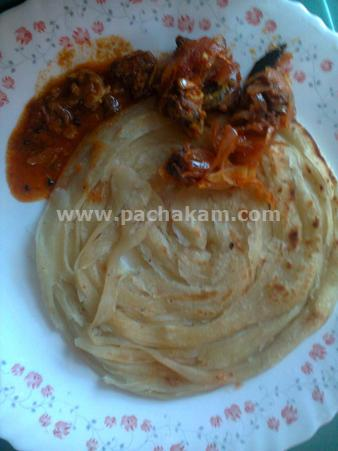 Step 11 Home Made Kerala Poratta Recipe