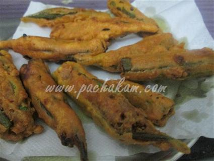 Step 4 Lady's Finger Pakoda Recipe