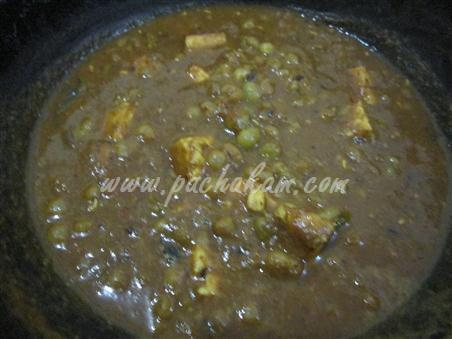 Step 7 Mattar Paneer Curry  Recipe