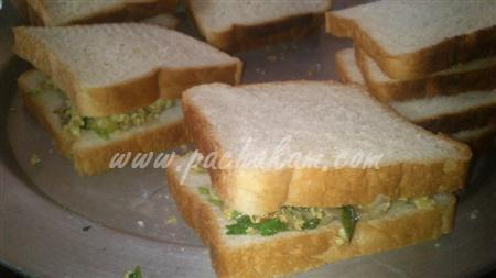 Step 7 Cheese Egg Masala Sandwich (Step By Step Photos) Recipe