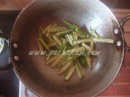 Step 2 Fried Bindi Masala (Step By Step Photos) Recipe