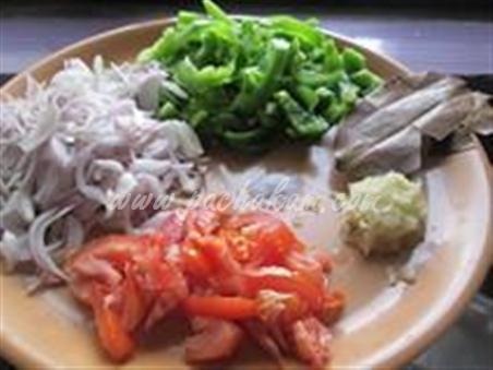 Step 1 Capsicum Masala Curry  Recipe