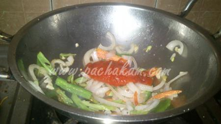 Step 4 American Chopsuey (Step By Step Photos) Recipe