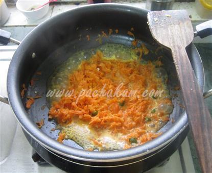 Step 2 Carrot Pachadi (Step By Step Photos) Recipe