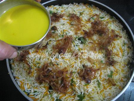 Step 19 Kachha Gosht Biryani (Step By Step Photos) Recipe