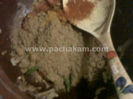 Step 3 Naadan Chemmeen Curry Recipe