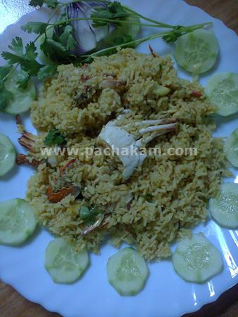 Step 10 Crab Biryani With Cucumber Salad Recipe