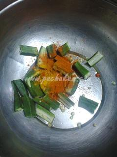 Step 2 Easy And Spicy Vendakka Fry  Recipe