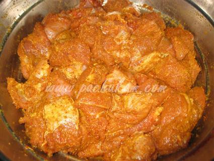 Step 1 Kachha Gosht Biriyani Recipe