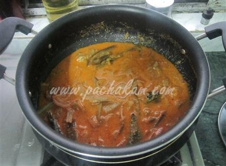Step 5 Brinjal Theeyal (Step By Step Photos) Recipe