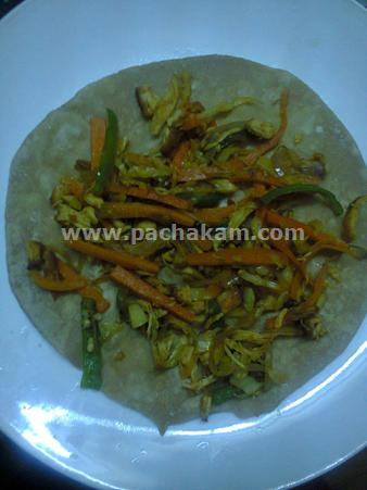 Step 11 Chappathi Roll Recipe