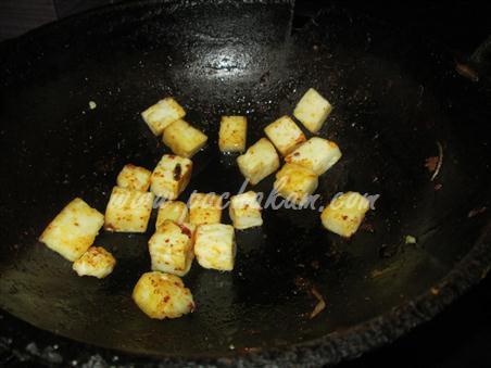 Step 2 Mattar Paneer Curry Recipe