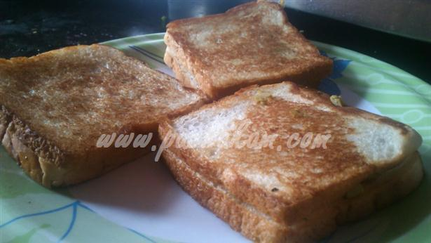 Step 8 Cheese Egg Masala Sandwich (Step By Step Photos) Recipe