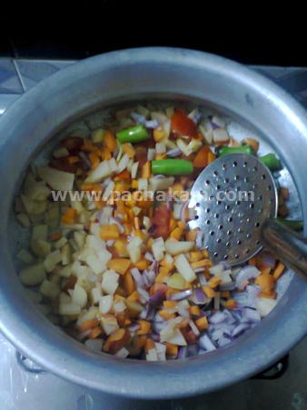 Step 3 Easy Veg Kuruma Recipe
