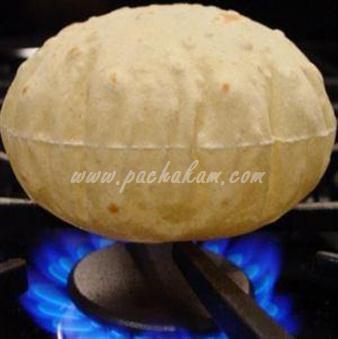 Step 9 Phulka Chappathi Recipe