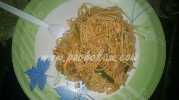 Step 14 Chicken Noodles (Step By Step Photos) Recipe