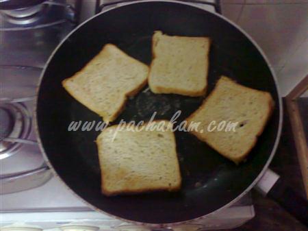 Step 1 Bread Pizza (Step By Step Photos) Recipe