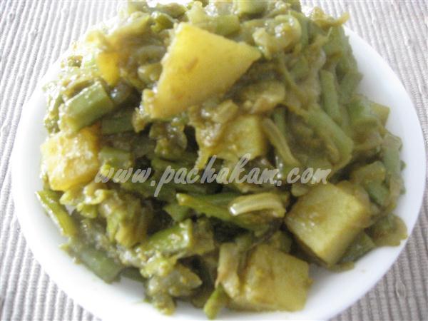 Step 5 Guar-Cluster Beans & Potato Bhaji (Step By Step Photos) Recipe