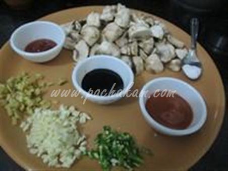 Step 2 Chinese Mushroom-Capsicum Pulao Recipe