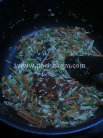 Step 9 Chappathi Roll Recipe