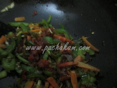 Step 6 Vegetable Frankie Recipe