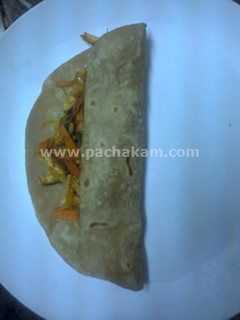 Step 12 Chappathi Roll Recipe