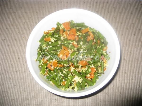 Step 5 Beans & Carrot Poriyal (Step By Step Photos) Recipe