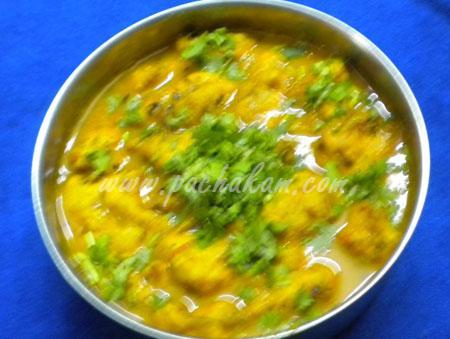 Step 7 Pakoda Curry Recipe