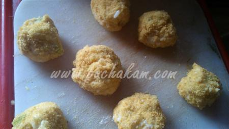 Step 8 Cheesy Corn Ball (Step By Step Photos) Recipe