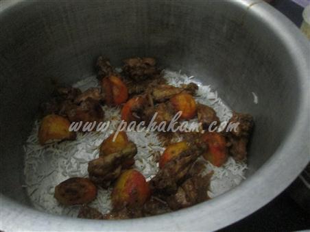 Step 3  Kerala Chicken Biriyani(Kozhi Biryani) Making Recipe