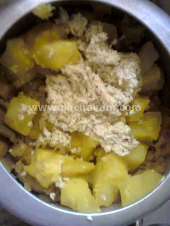 Step 3 Naadan Kappa (Tapioca) Mathi (Sardines) Puzhukku ( Recipe