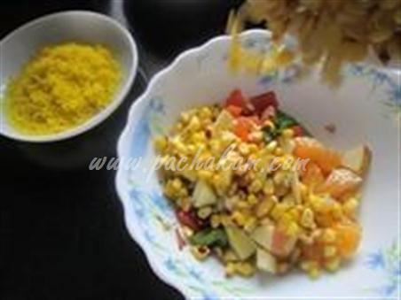 Step 6 Corn Bhel - Healthy Snack Recipe