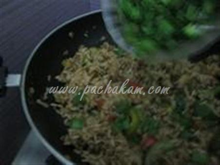 Step 8 Chinese Mushroom-Capsicum Pulao Recipe